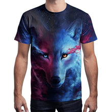 Load image into Gallery viewer, Wolf Printed Round Neck Pullover Short Sleeve T-shirt