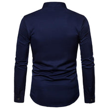 Load image into Gallery viewer, Men's Casual Business Embroidered Long Sleeve Shirt