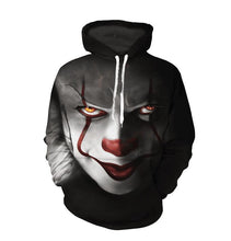Load image into Gallery viewer, 3D Clown Printing Hoodie Casual Hooded Sweatshirt