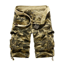 Load image into Gallery viewer, Multi-pocket Hip Hop Street Dance Skateboard Camouflage Camo Cargo Shorts