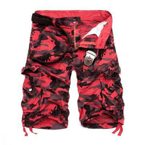 Multi-pocket Hip Hop Street Dance Skateboard Camouflage Camo Cargo Shorts