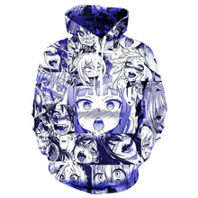 Load image into Gallery viewer, Ahegao Anime 3D Face Print Pullover Unisex Hoodie