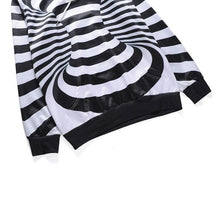 Load image into Gallery viewer, 3D Striped Print Hooded Sweatshirt