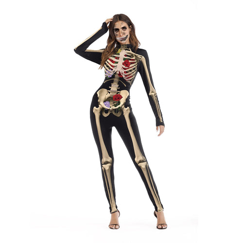 Halloween Cosplay Performance Party Evening Printed Bodysuits Jumpsuit