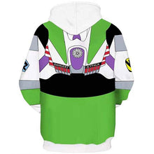 Load image into Gallery viewer, Toy Story Buzz Lightyear Casual Pullover Hoodie Casual Hooded Sweatshirt