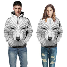 Load image into Gallery viewer, 3D Wolf Printed Pullover Hoodie