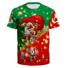 Load image into Gallery viewer, Printed Christmas Loose T-shirt