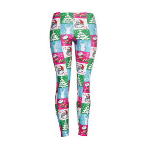 Christmas Element Print Slim-fit Leggings