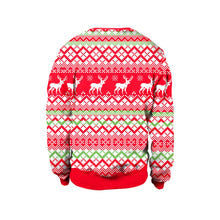 Load image into Gallery viewer, Christmas Alpaca Printed Round Collar Sweater