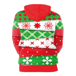 Christmas Printed Hooded Sweatshirt