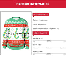 Load image into Gallery viewer, Christmas Snowflake Print Round Neck Sweatshirt