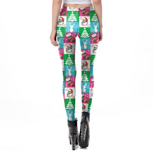 Load image into Gallery viewer, Christmas Element Print Slim-fit Leggings