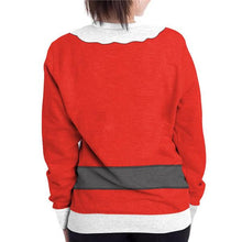 Load image into Gallery viewer, Long Sleeve Santa Print Xmas T-Shirts Top