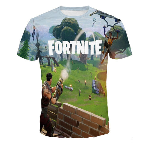 FORTNITE Printed Casual Short Sleeve T-shirt