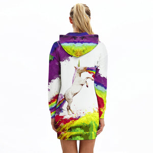 Stylish Printed Hoodie Dress