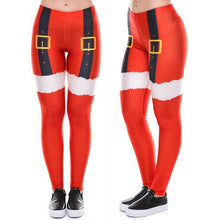 Load image into Gallery viewer, Christmas Print Slim Leggings Sport Pants