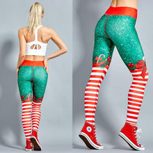 Load image into Gallery viewer, Sexy Christmas Striped Print Sweatpants Yoga Pants