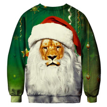 Load image into Gallery viewer, Print Hooded Long Sleeve Loose Christmas Top