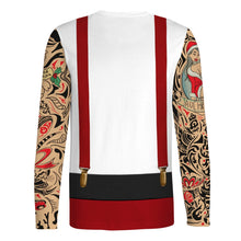Load image into Gallery viewer, Men's Large Size Christmas Print T-Shirt Long Sleeve