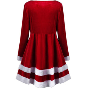 Christmas Velvet Long Sleeve Christmas Dress