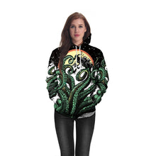 Load image into Gallery viewer, Octopus Digital Print Loose Couple Casula Hoodie