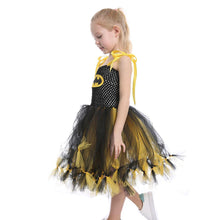 Load image into Gallery viewer, Halloween Girl Black Yellow Batman Mesh Tutu Kids Dress Children's Dress