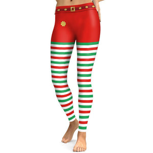 Christmas Print Slim Tights Leggings Yoga Pants