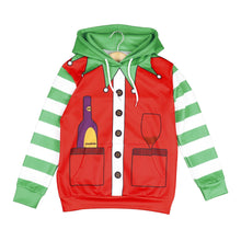 Load image into Gallery viewer, Christmas Cartoon 3D Printed Children's Long Sleeve Hooded Two-piece