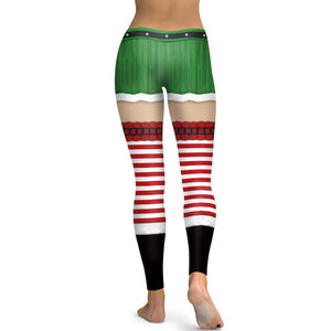 Christmas Print Tight-fitting Sports Yoga Pants Leggings