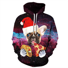 Load image into Gallery viewer, Cute Dog Christmas Printed Hooded Xmas Sweatshirt