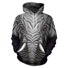 Load image into Gallery viewer, 3D Mammoth Print Hooded Sweatshirt