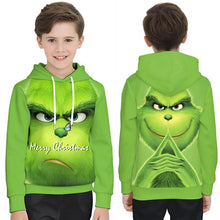 Load image into Gallery viewer, The Grinch Print Funny Christmas Hoodie Casual Ugly Sweatshirt Jacket Coat Outerwear For Kids