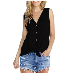 Women Tops Tunic Blouse Tie Knot Henley Loose Fitting Bat Wing Plain Shirts
