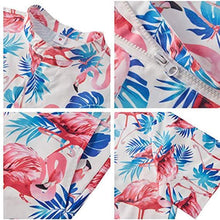 Load image into Gallery viewer, Men Beach Short Sleeve 3D Flamingo Print White Romper