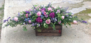 Cottage Garden Coffin Spray