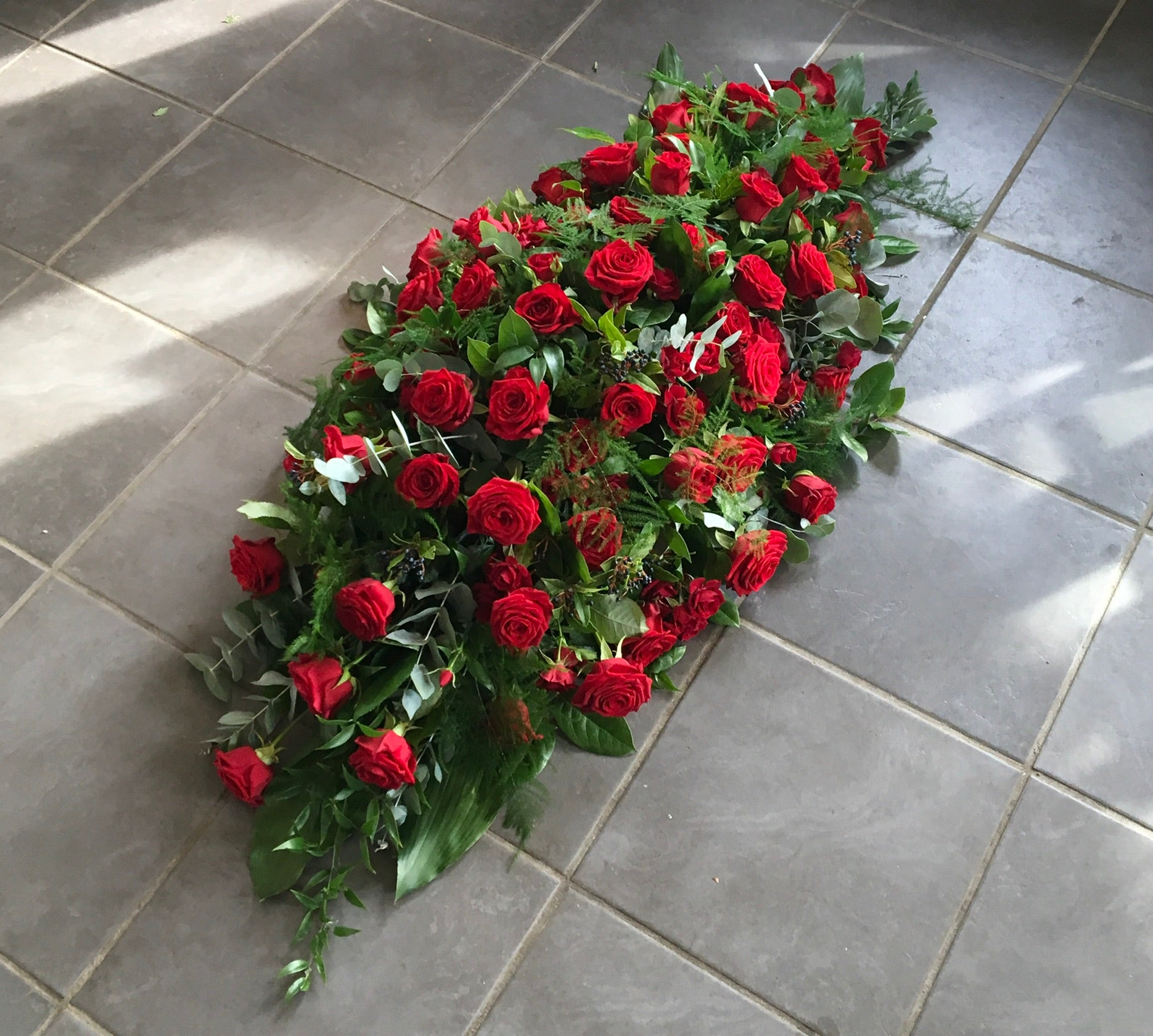 Rose Coffin Spray