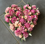 Pretty Carnation Heart