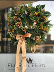 Luxury Gold Door Wreath