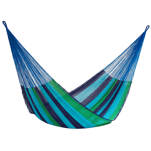 Single Size Cotton Mexican Hammock in Oceanica Design | FREE DELIVERY