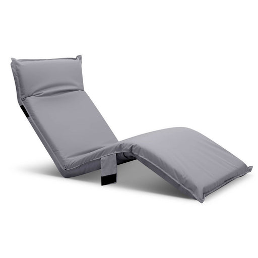 Adjustable Beach Sun Pool Lounger - Grey | FREE DELIVERY