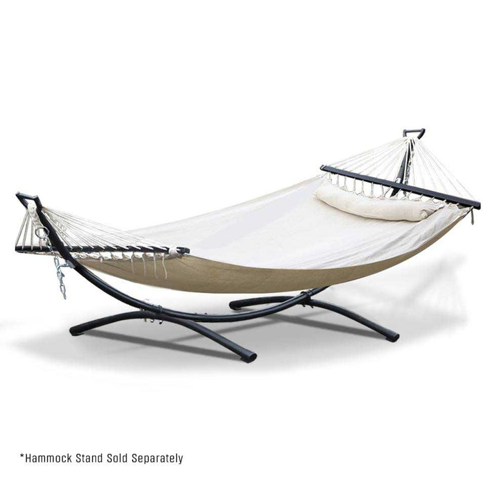 Portable Swing Double Hammock Bed - Natural | FREE DELIVERY