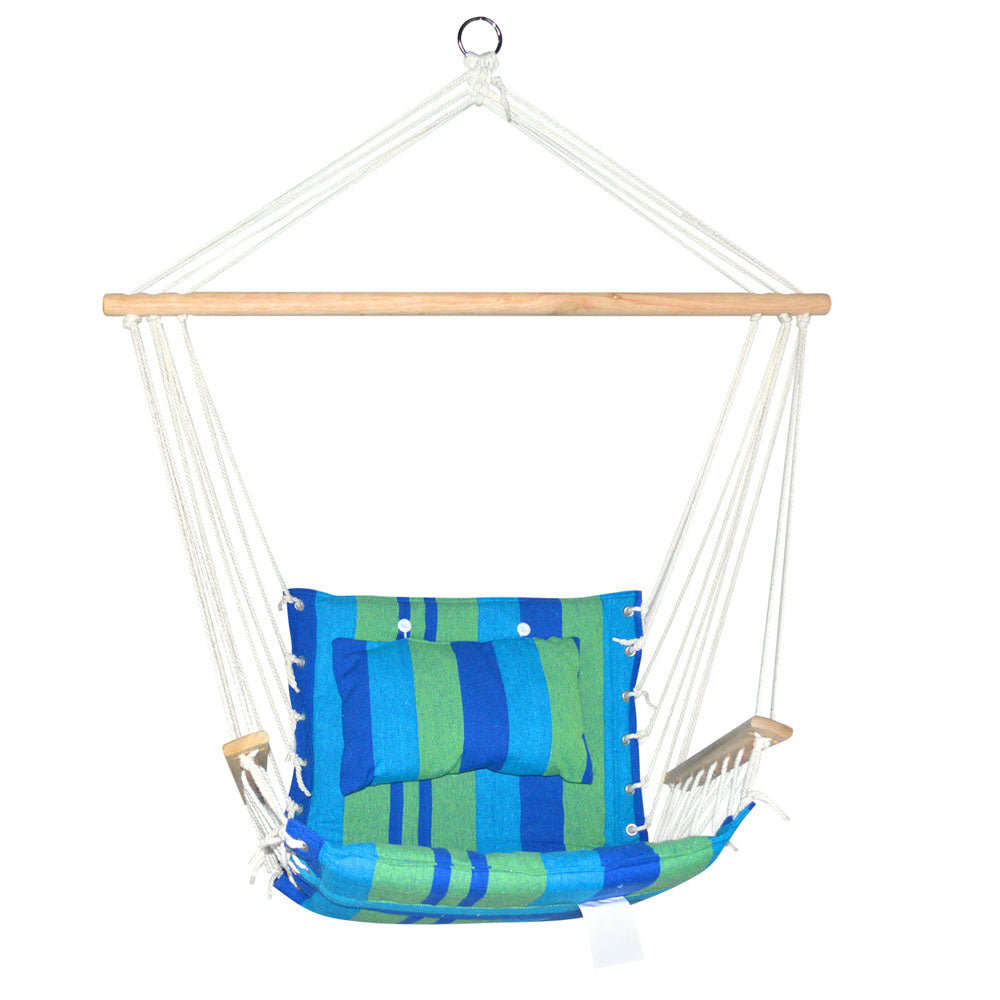 Hanging Hammock Swing Chair -Blue and Green | FREE DELIVERY