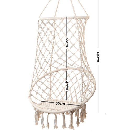 Premium Hanging Hammock Swing Chair - Natural | FREE DELIVERY