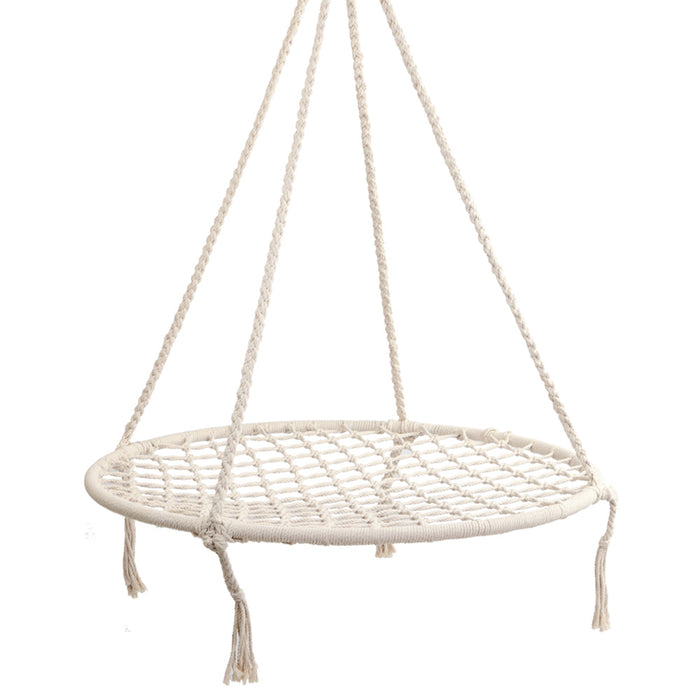 Keezi™ Kids Nest Swing Hammock Chair - Natural | FREE DELIVERY