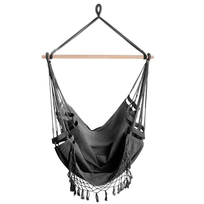 Hammock Swing Chair - Slate Grey | FREE DELIVERY