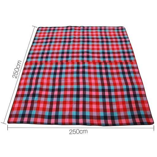 2.5 x 2.5m Picnic Blanket with Carry Bag - Miami Plaid | FREE DELIVERY