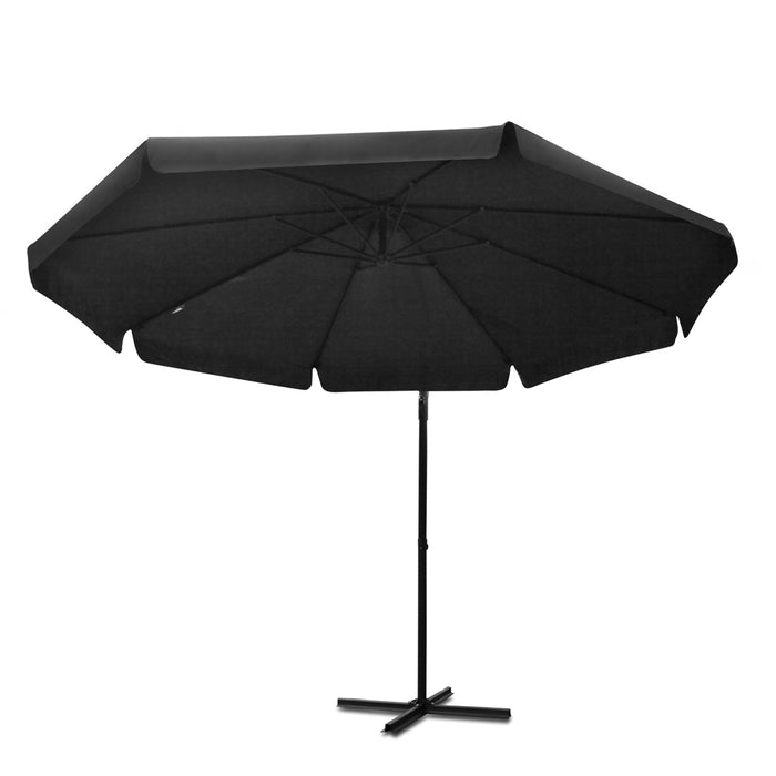 Instahut™ 3M Cantilevered Outdoor Umbrella [with side flaps] - Black | FREE DELIVERY