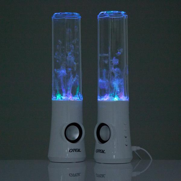 Otek™ Water Dancing Speakers 2x USB Powered LED Water Fountain PC iPhone iPod - White | FREE DELIVERY