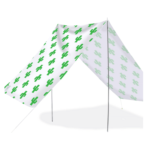 Quick-Assembly Summer Beach Tent [148 x 370cm]  - Cactus Design | FREE DELIVERY