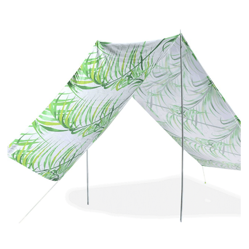 Quick-Assembly Summer Beach Tent [148 x 370cm]  - Palm Design | FREE DELIVERY